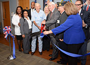 The Deputy VA Secretary Thomas Bowman, VISN 16 Network Director, and other key activation staff officially cut the ribbon of the Lake Charles CBOC. Harold Gournay, a World War II Veteran and former prisoner of war assisted with the opening.