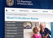 Screenshot of the new VISN website design