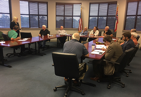 Dr. Skye McDougall, Network Director VISN 16, met with members of the Mississippi Council of Veterans' Organizations, Oct. 10, 2017.